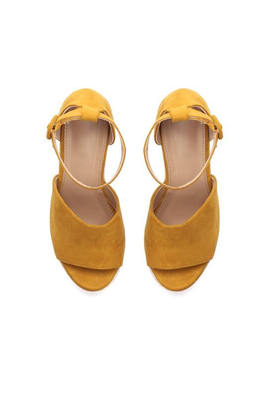 Żółte Sandały Leaving