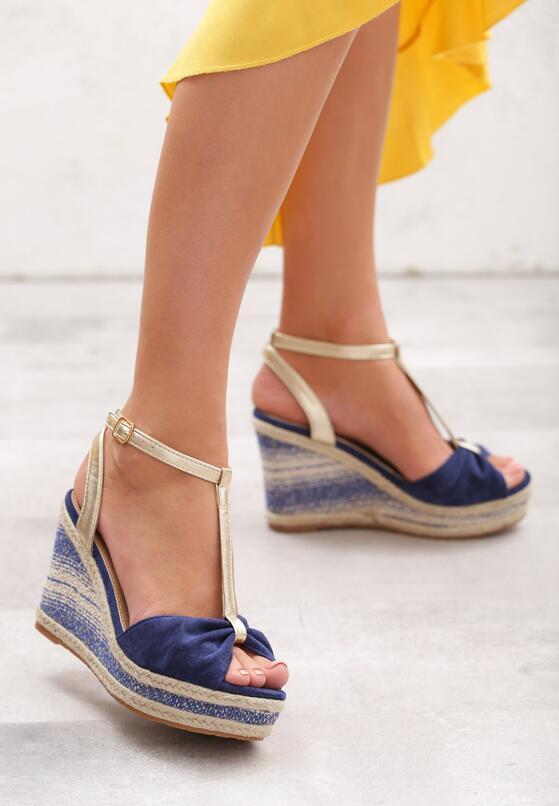 Niebieskie Sandały Warmer