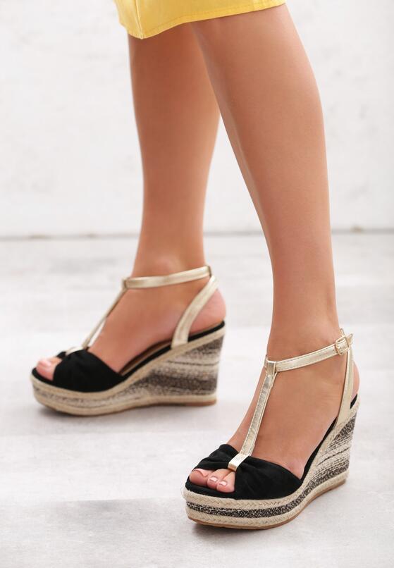 Czarne Sandały Warmer
