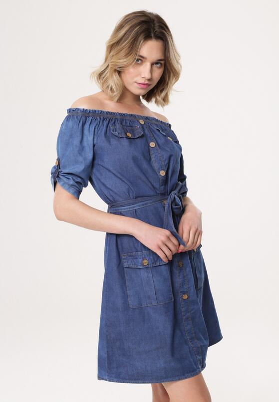 Niebieska Sukienka Little Drop
