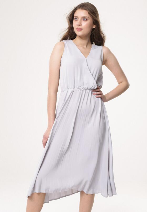 Szara Sukienka Smooth