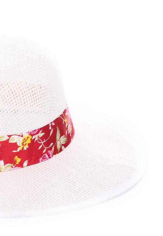 Biało-Różowy Kapelusz Seasonal