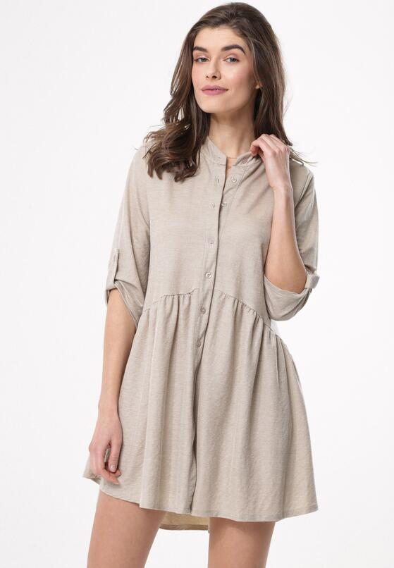 Beżowa Sukienka Convolutions