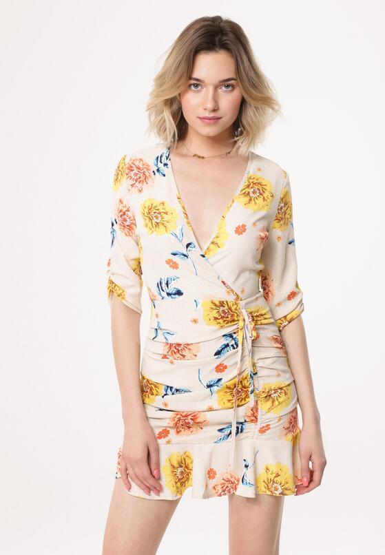 Beżowa Sukienka Florid