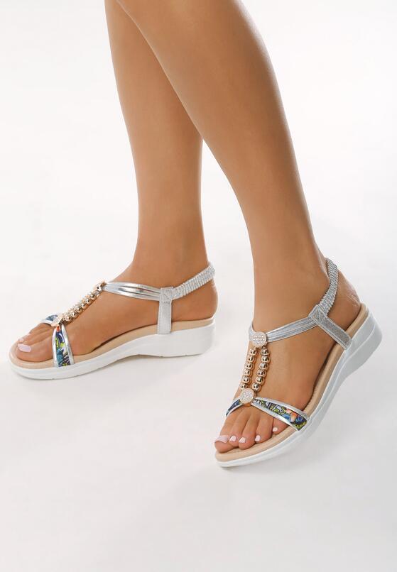 Srebrne Sandały Step