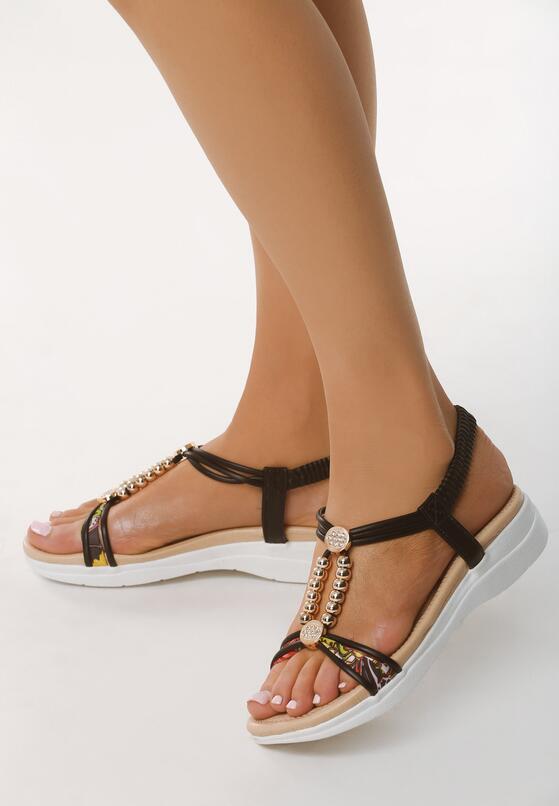 Czarne Sandały Step