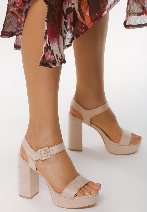 Beżowe Sandały Dressiest