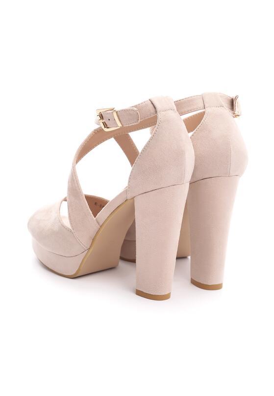 Beżowe Sandały Felicitous
