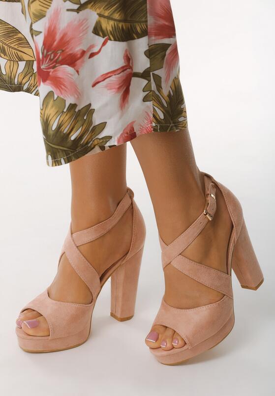 Różowe Sandały Felicitous