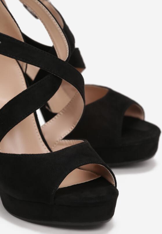 Czarne Sandały Felicitous