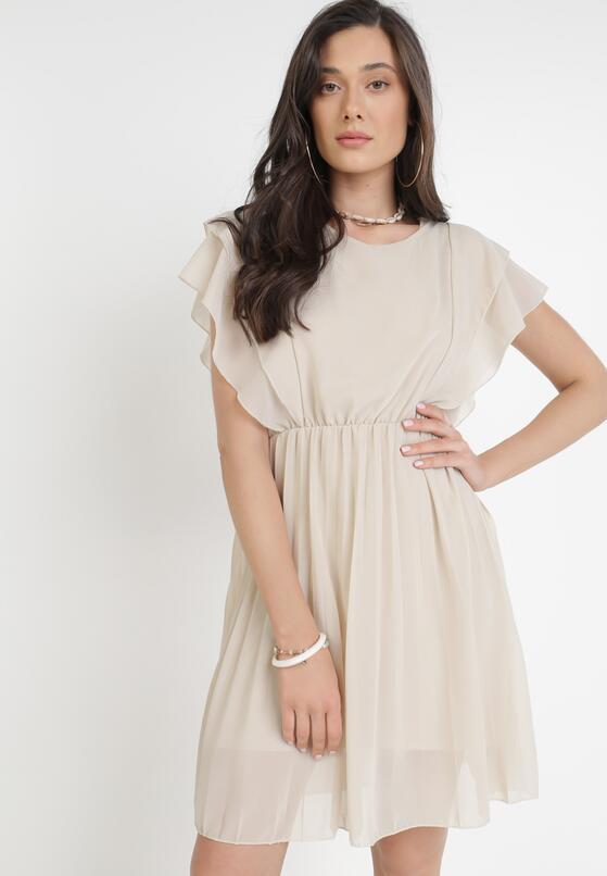Jasnobeżowa Sukienka Charmer