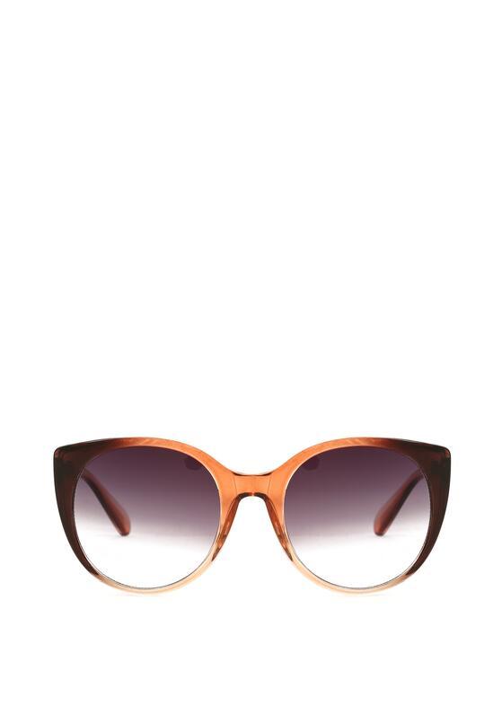 Jasnobrązowe Okulary Groovy
