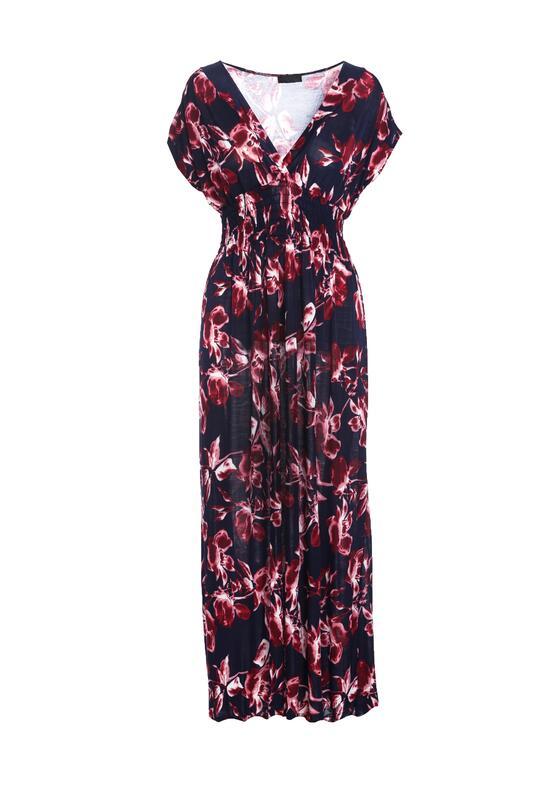 Granatowo-Bordowa Sukienka Nino