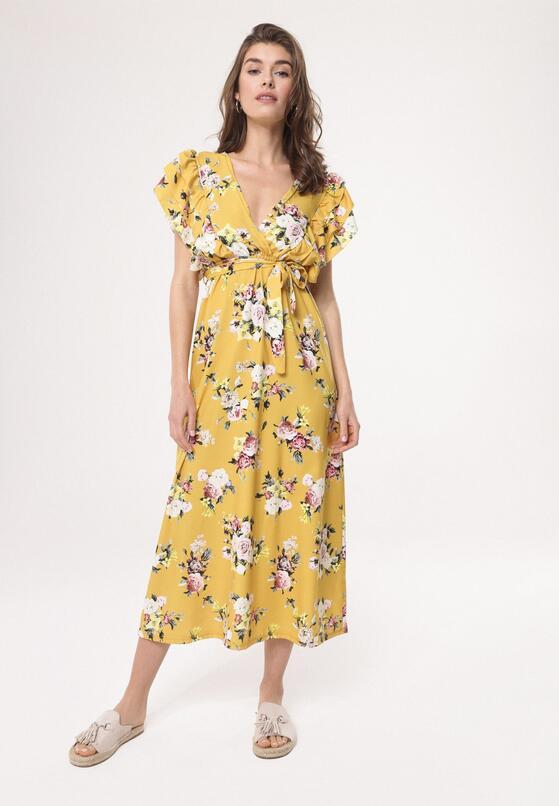 66b40671f9 Żółta Sukienka Thermals w Born2be.pl