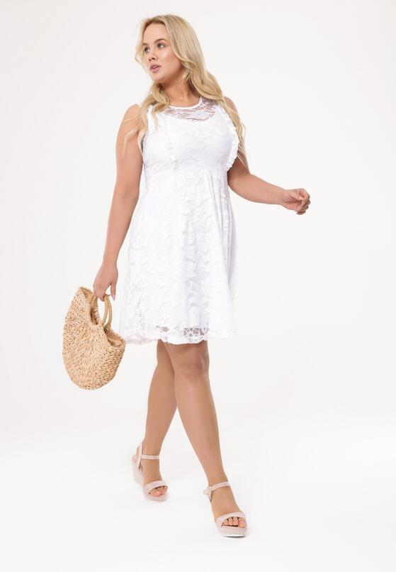 Biała Sukienka Thunderclap