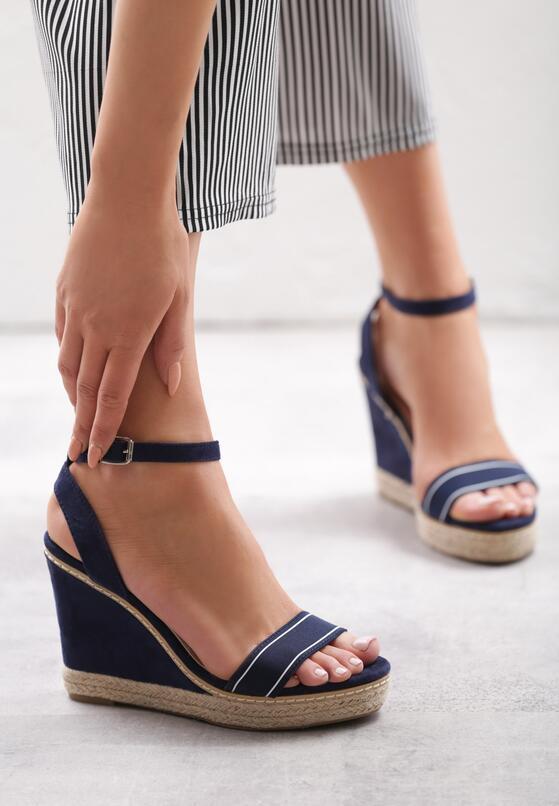 Granatowe Sandały Firn