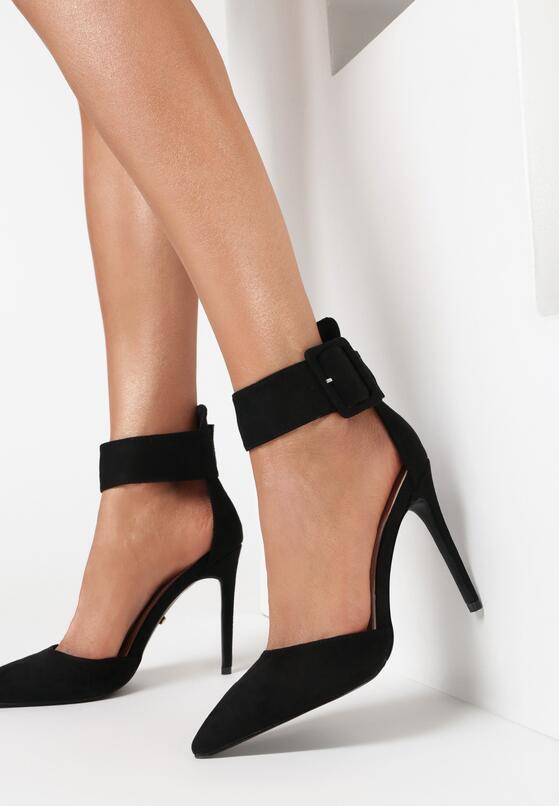 Czarne Sandały Pathos