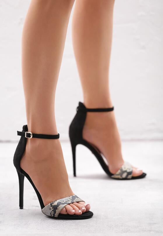 Brązowe Wężowe Sandały Ensmallen