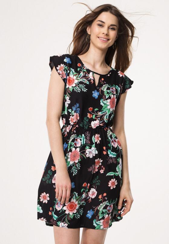 Czarna Sukienka Tiger Lily