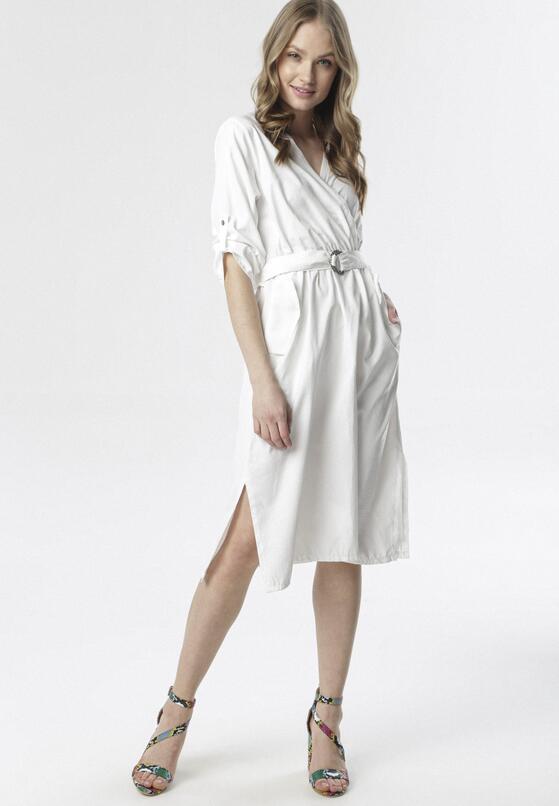 Biała Sukienka Iron