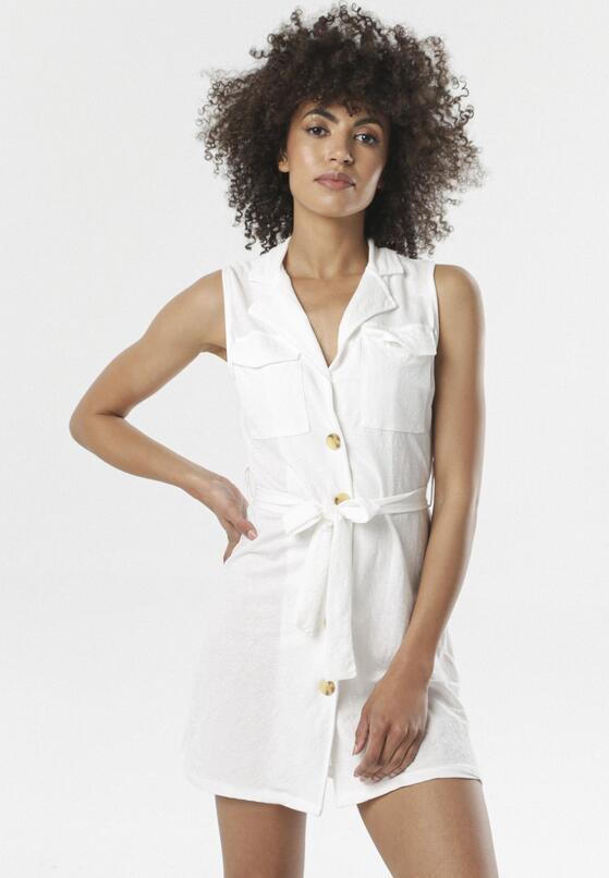 Biała Sukienka Arkose