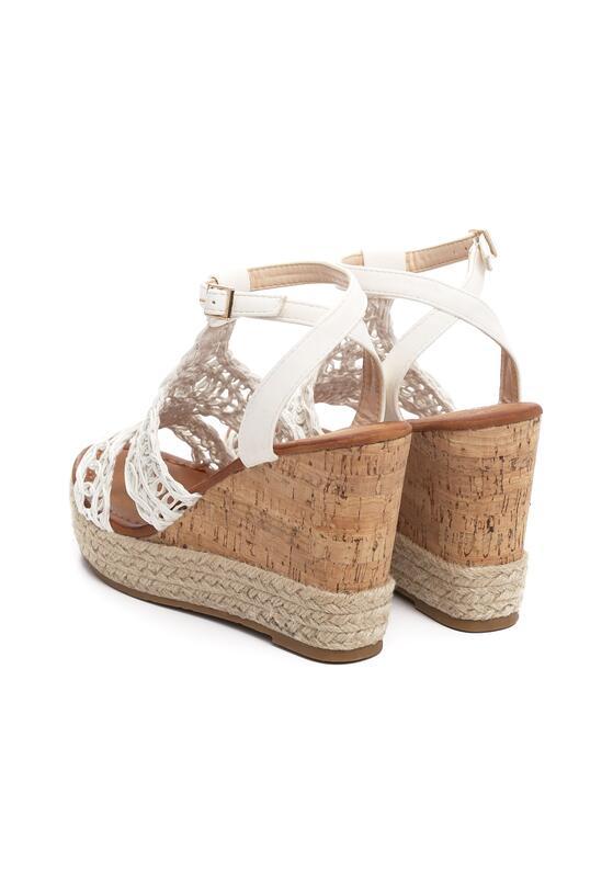 Białe Sandały Sweet Lace