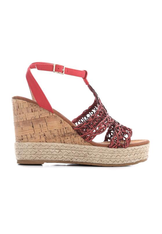 Czerwone Sandały Sweet Lace