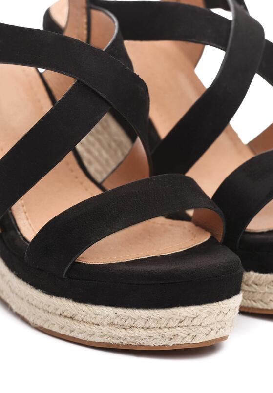 Czarne Sandały Monatomic