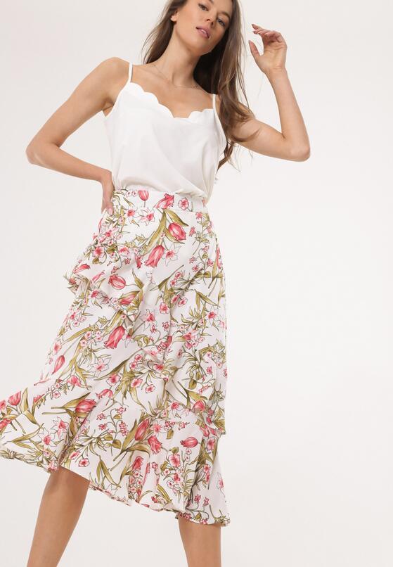 Biała Spódnica Flowerpot