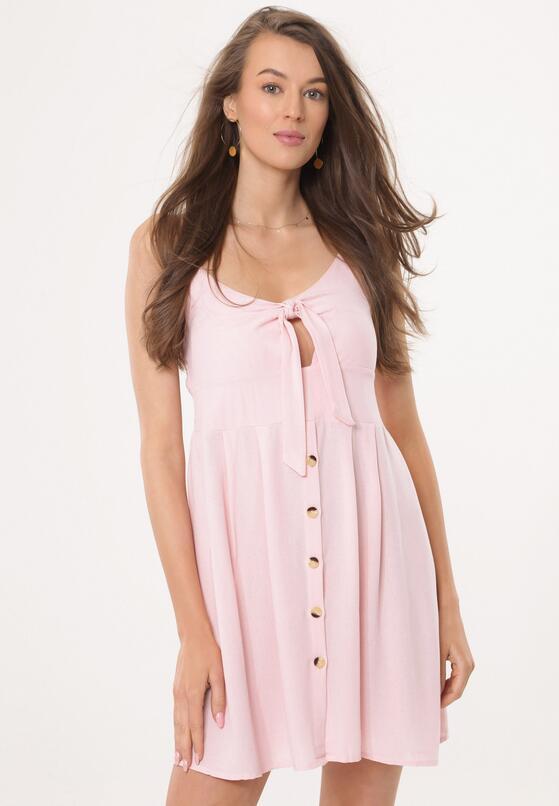 Jasnoróżowa Sukienka Fermion