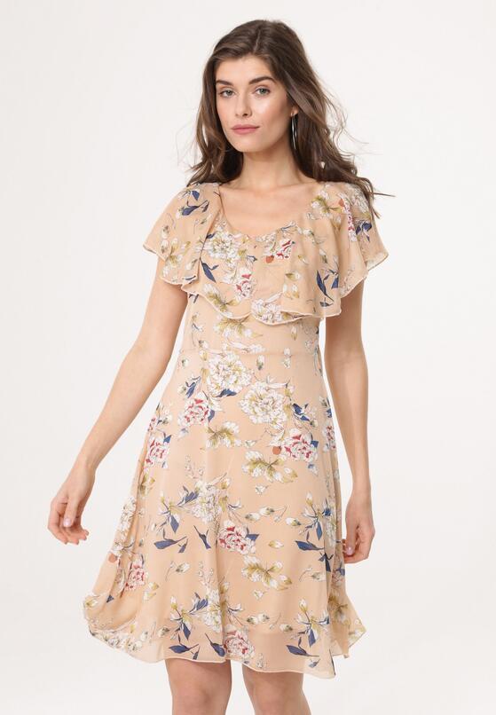 Beżowa Sukienka Isotope