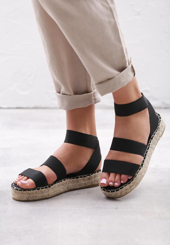 Czarne Sandały Themed