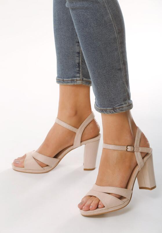 Beżowe Sandały Born With