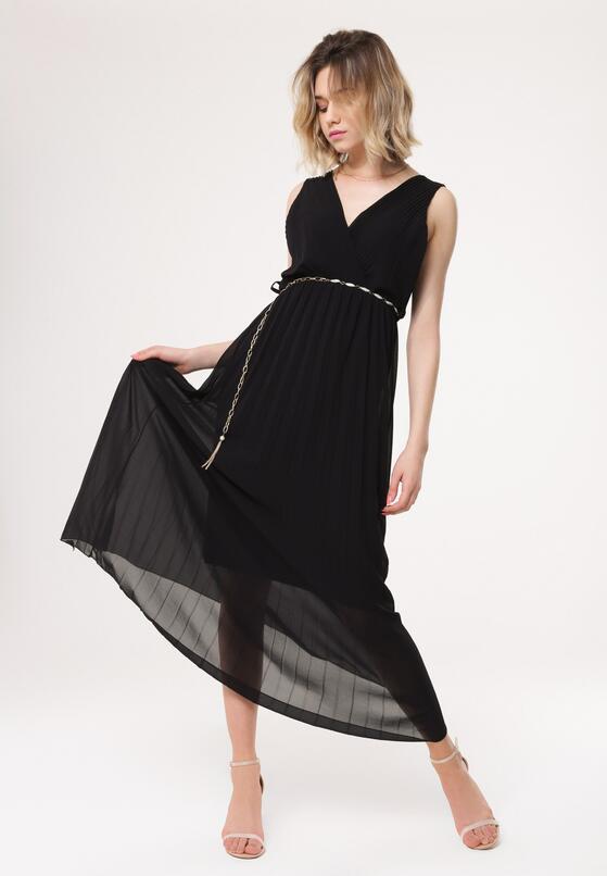 Czarna Sukienka Neoclassicism
