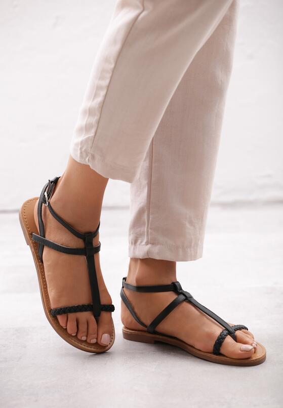 Czarne Sandały Laborious