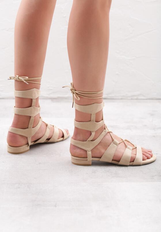 Beżowe Sandały Beautydom
