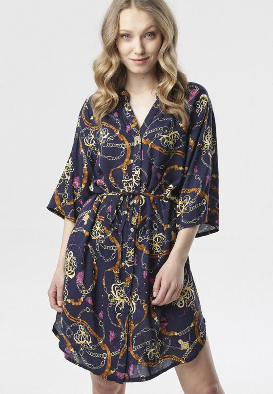 Granatowa Sukienka Exhaustive
