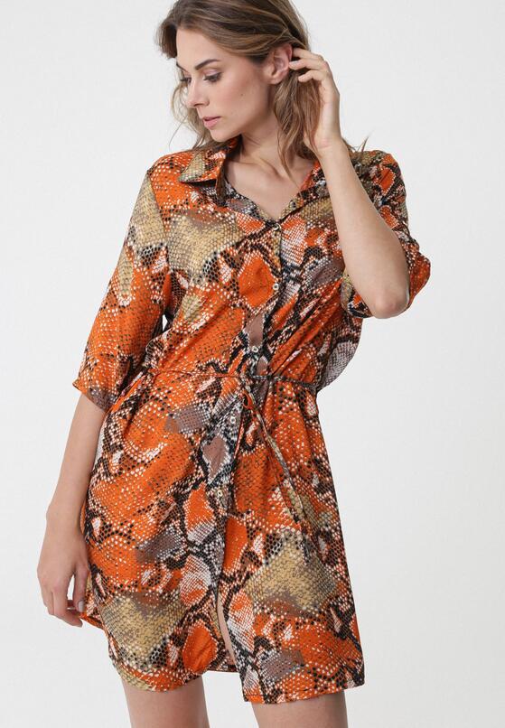 Pomarańczowa Sukienka Inoperative