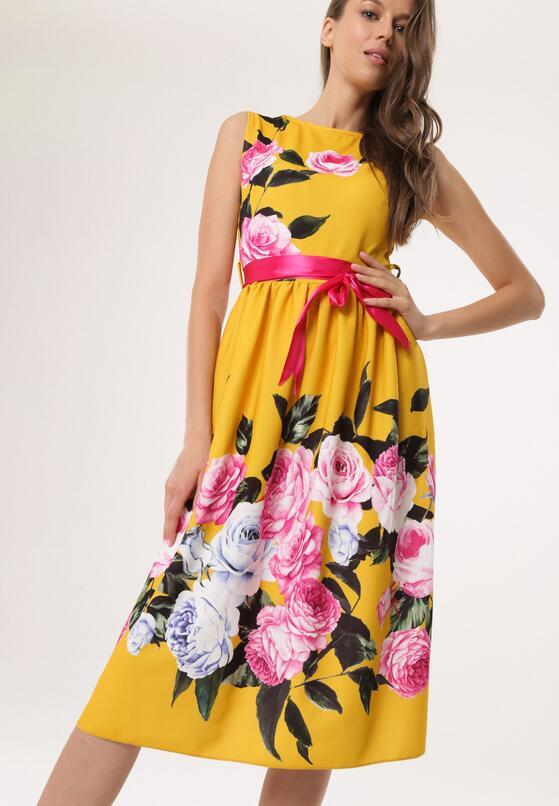 Żółta Sukienka Nailed Down