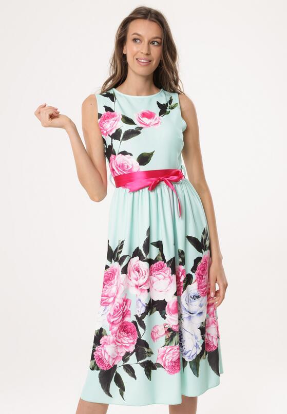 Miętowa Sukienka Nailed Down