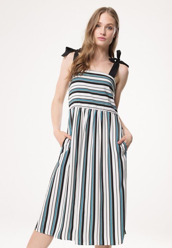 Biało-Zielona Sukienka Reliant