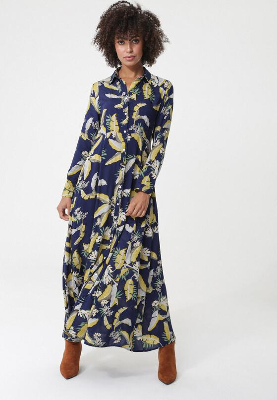 Granatowa Sukienka Space Time