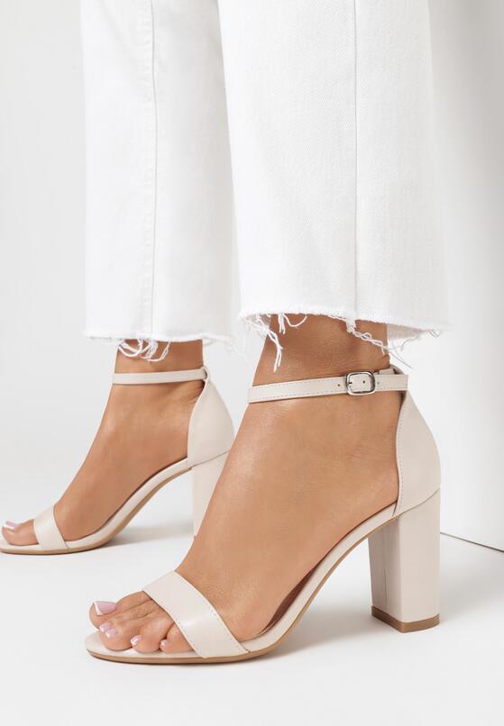 Beżowe Sandały Authorizing