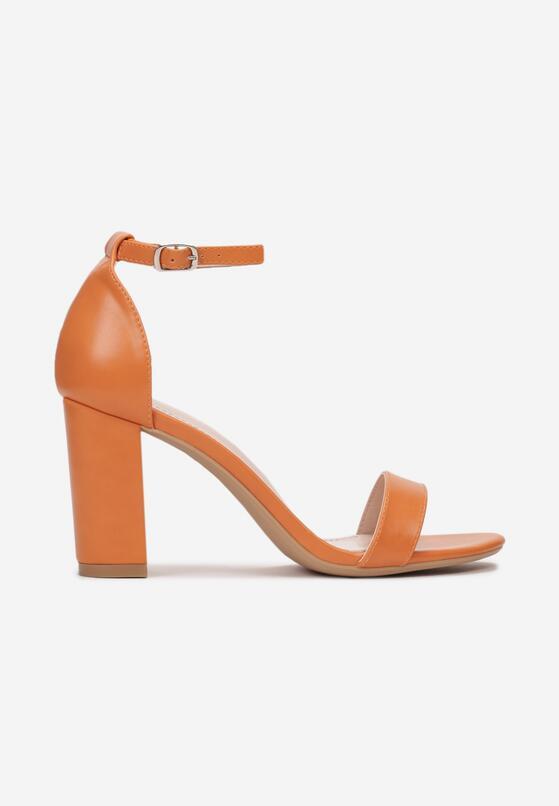 Pomarańczowe Neonowe Sandały Authorizing