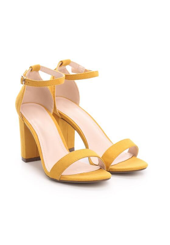 Żółte Zamszowe Sandały Authorizing
