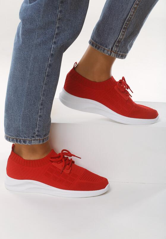 Czerwone Buty Sportowe Complying