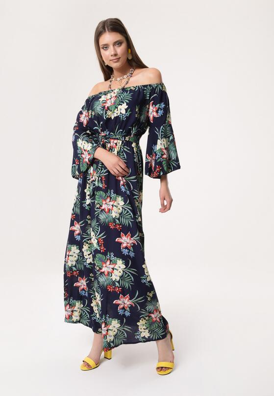 Granatowa Sukienka Pachanga