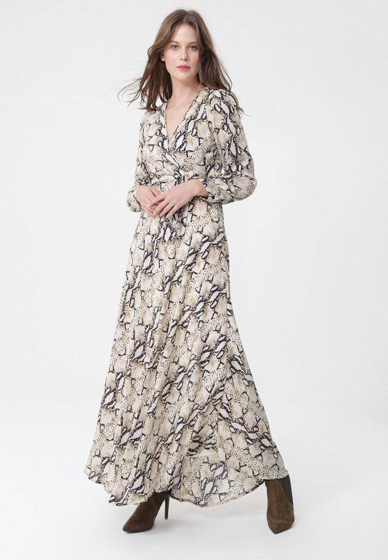 Jasnobeżowa Sukienka Palmas