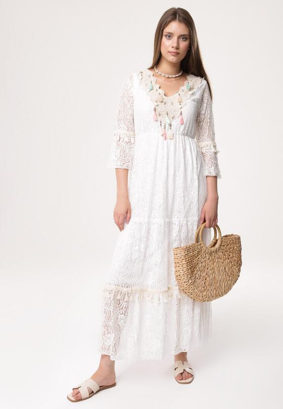 Biała Sukienka Flamenco Guitar