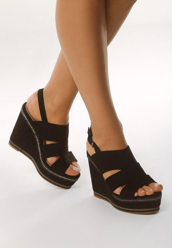 Czarne Sandały Turning Tables